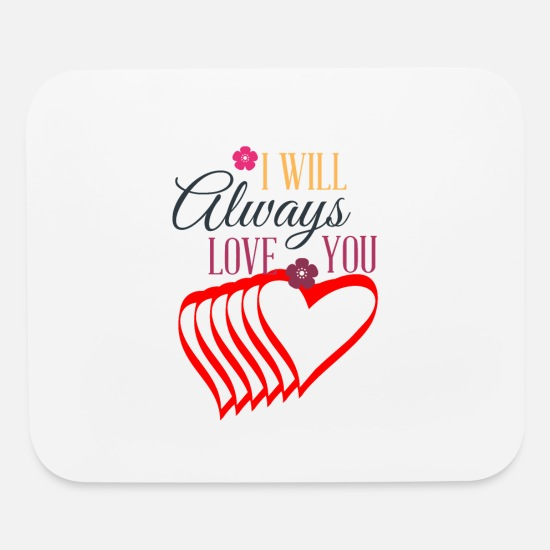 Valentine's Day Mouse Pads - Valentines day tshirt gift for her or him. - Mouse Pad white