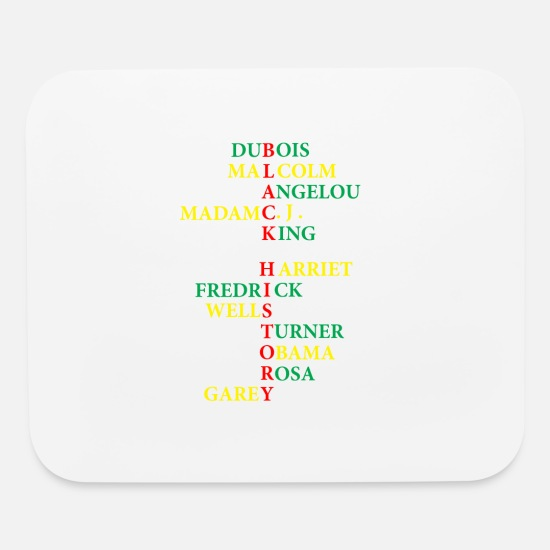 Black History Mouse Pads - Black History - Mouse Pad white