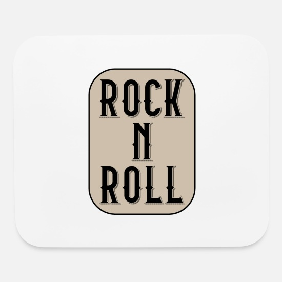 Drummer Mouse Pads - I LOVE ROCK N ROLL ROCK BAND MUSIC - Mouse Pad white