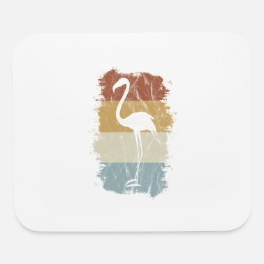Wading Bird Retro Vintage 60s Flamingo Cool Wading Bird Gift - Mouse Pad