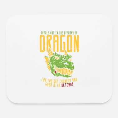 Ketchup Dragon Dragon Funny Statement - Mouse Pad