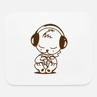 Mp3 Little bear with an MP3 Player - Mouse Pad