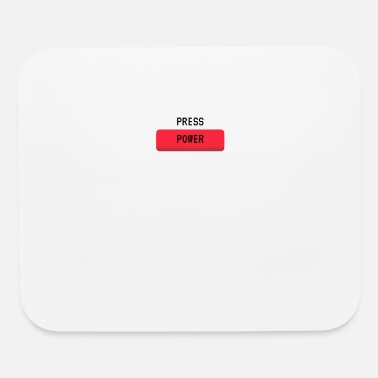 Power Press Press Power Gaming Console Gamer Button - Mouse Pad