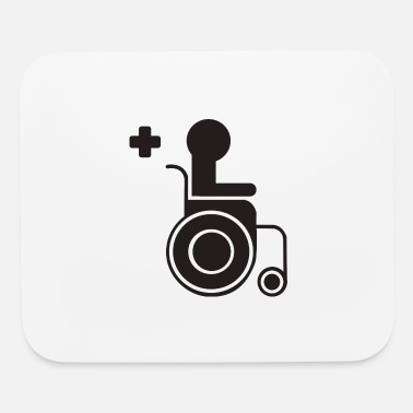 Sit sitting in a wheelchair - Mouse Pad