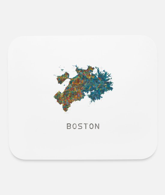 Boston Marathon Mouse Pads - boston water - Mouse Pad white