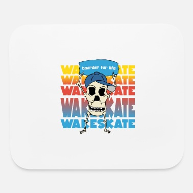 Wakeskating Boarder for life wakeskate water sports skull - Mouse Pad