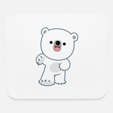 Cute Happy Polar Bear Cub by Cheerful Madness!! - Mouse Pad