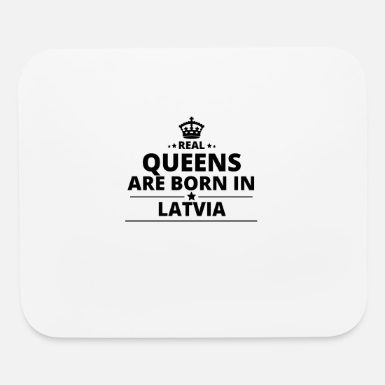 Love Mouse Pads - geschenk love queens are born LATVIA - Mouse Pad white