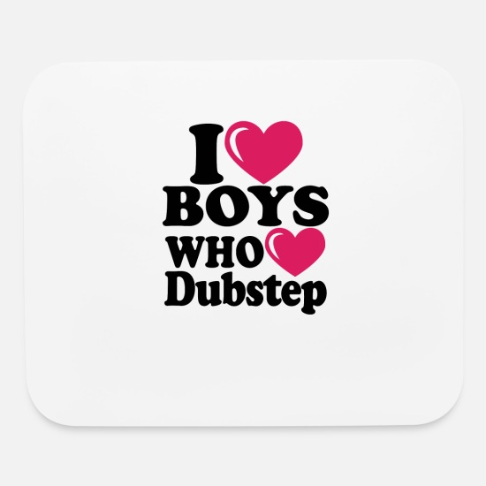 Heart Rate Mouse Pads - I heart boys dubstep - Mouse Pad white