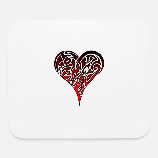 Tribal Mouse Pads - Tribal Heart - Mouse Pad white