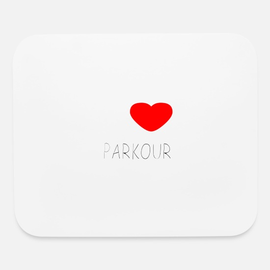 Highrise Building Mouse Pads - I LOVE PARKOUR - Mouse Pad white