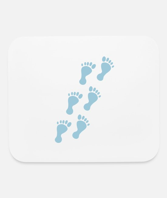 Fuse Mouse Pads - feet foot prints - Mouse Pad white