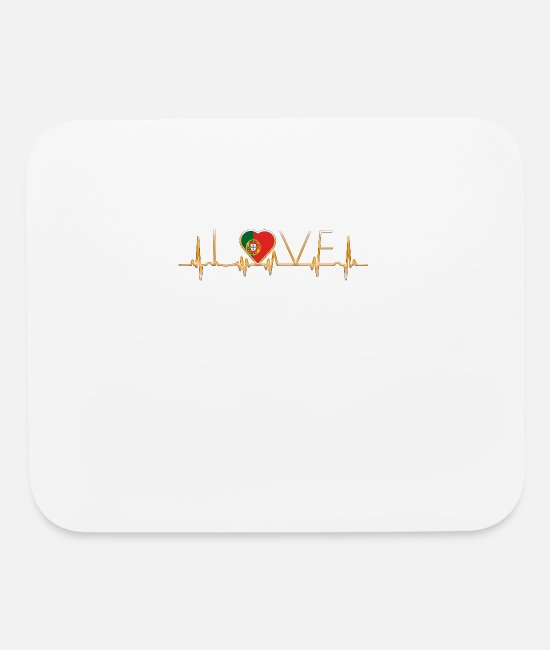 Proud Mouse Pads - home roots heimat love heart from PORTUGAL portuge - Mouse Pad white