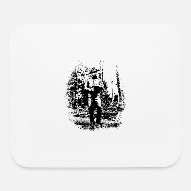 Forestry Forestry worker in timber harvest - Mouse Pad