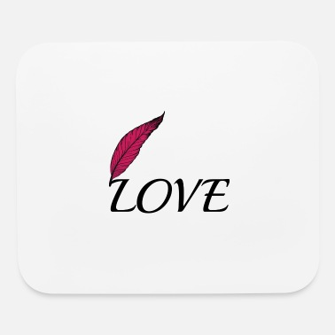 Love Love with feather - Mouse Pad