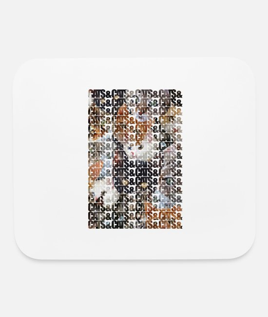 Cats Mouse Pads - Cats and Cats and - Mouse Pad white