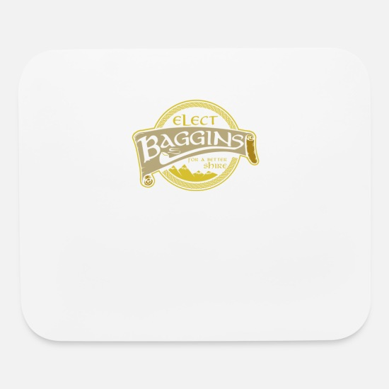 Art Mouse Pads - Elect baggins for a better - Mouse Pad white