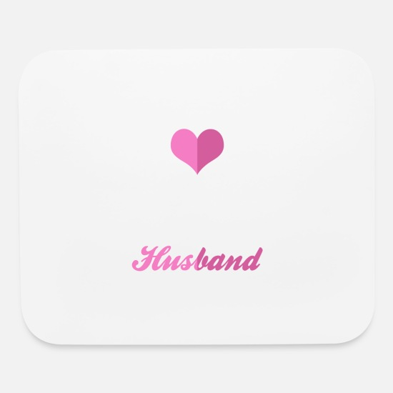 Love Mouse Pads - I Love My Crazy Husband - Mouse Pad white