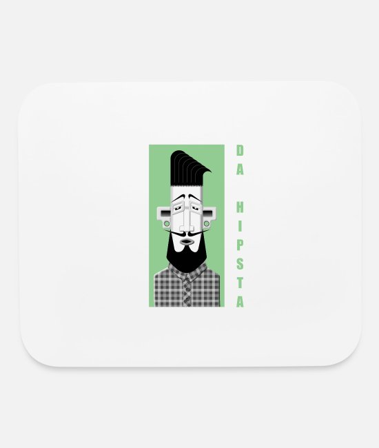 Hipster Mouse Pads - DA HIPSTA - Mouse Pad white