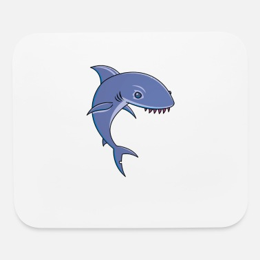 Cartoon Shark Sharky Cartoon Shark - Mouse Pad