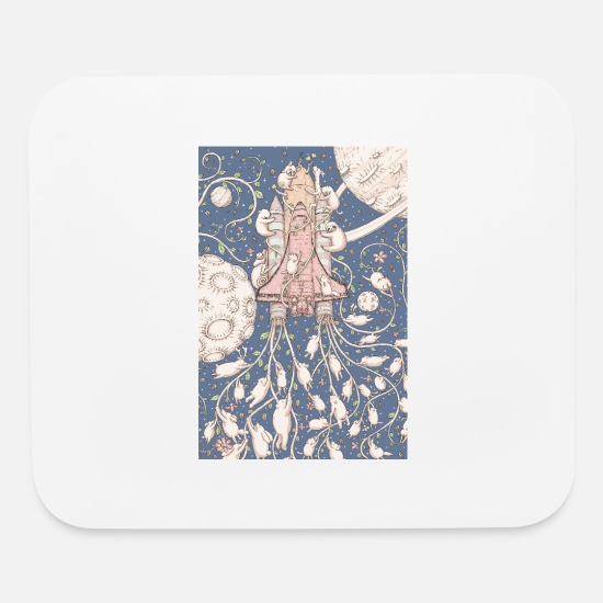 Mythical Mouse Pads - forest rocket - Mouse Pad white