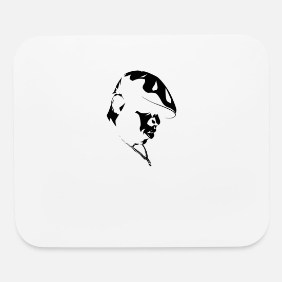 Biggie Smalls Mouse Pads - Biggie Smalls 6YYT - Mouse Pad white