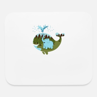 Elephicanswim - Mouse Pad