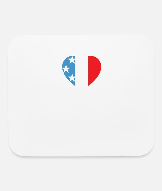 Boston Marathon Mouse Pads - Boston Strong Usa Heart - Mouse Pad white