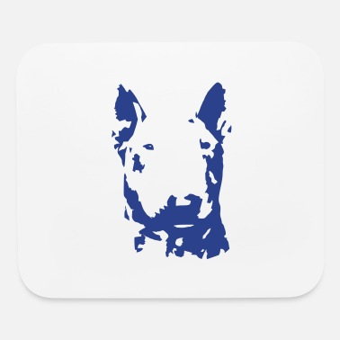 Blue Bullterrier - Mouse Pad