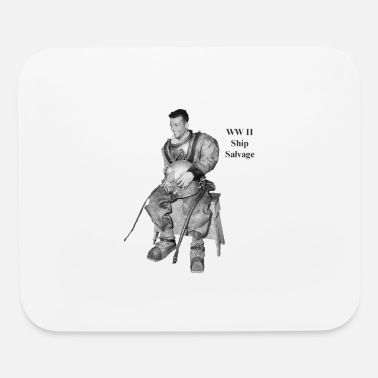 World War Ii Vintage World War II Navy Ship Salvage Diver - Mouse Pad