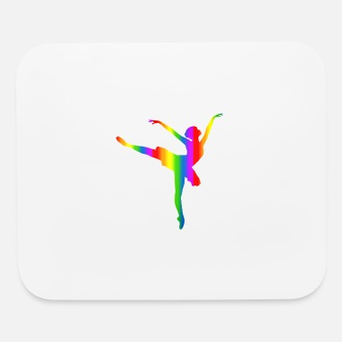 Ballerina Presents Colorful Ballerina Rainbow - Mouse Pad