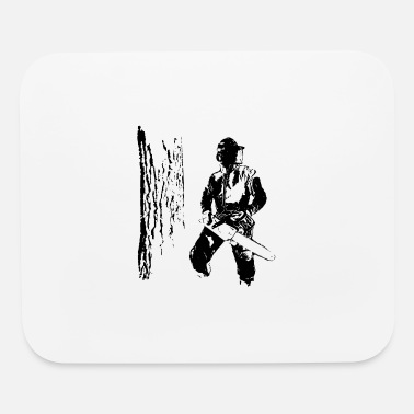 Forestry Forestry worker with oak tree - Mouse Pad