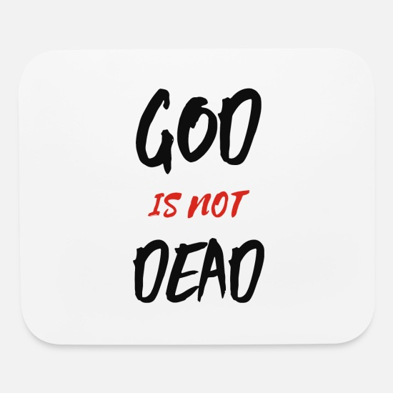 Geek Mouse Pads - God Is Not Dead - Mouse Pad white