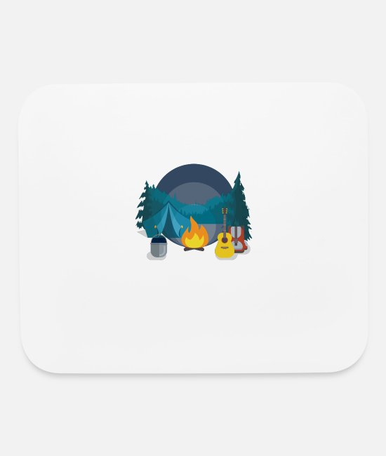 Mountains Mouse Pads - Camping - Mouse Pad white