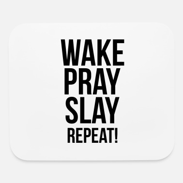 Wakeskating Wake Pray Slay Repeat, Christian, Faith, Jesus - Mouse Pad