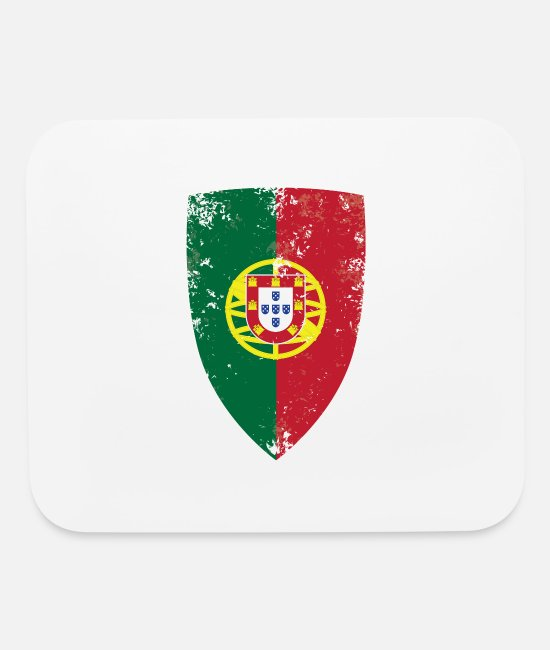 Shield Mouse Pads - Flag of Portugal - Mouse Pad white