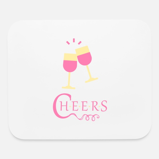 Alcohol Mouse Pads - cheers - Mouse Pad white