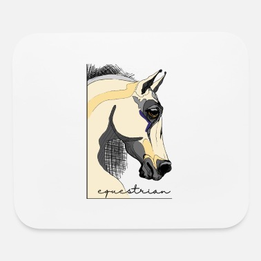 Horseshoe equestrian horse - Mouse Pad