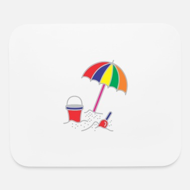 Beach Umbrella Beach Umbrella In Sand - Mouse Pad