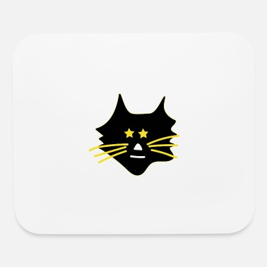Asterisk Cute cat with asterisks - Mouse Pad