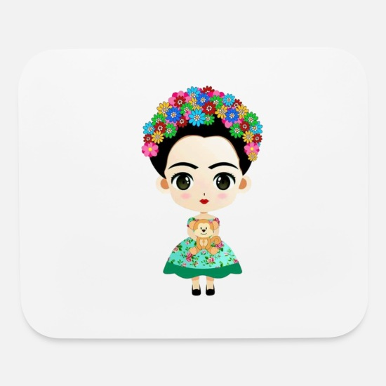 Frida Mouse Pads - Little Frida - Mouse Pad white