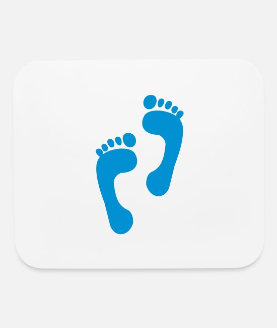 Foot Print Mouse Pads - foot - feet - foot print - Mouse Pad white