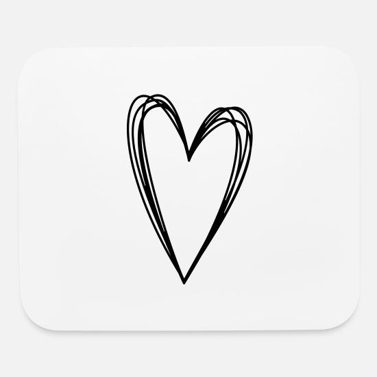 Coeur Dessin Griffonnage Amour Dessin Tapis De Souris Spreadshirt