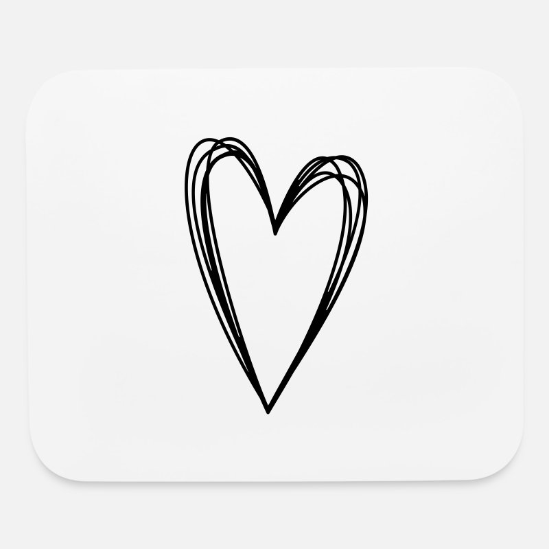 Romantic Desk Pad Hand Drawn Style Red Hearts Set with Scribble with I Love You Lettering Mouse Pad for Men Funny Dark Blue Red White 8 x 10 inches