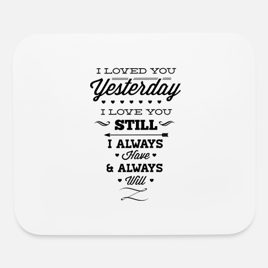 Couples Mouse Pads - I Love You - Mouse Pad white