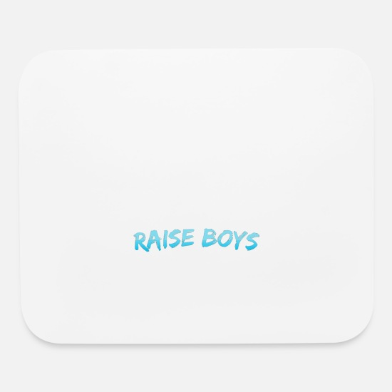 Wildlife Mouse Pads - support wildlife raise boys - Mouse Pad white