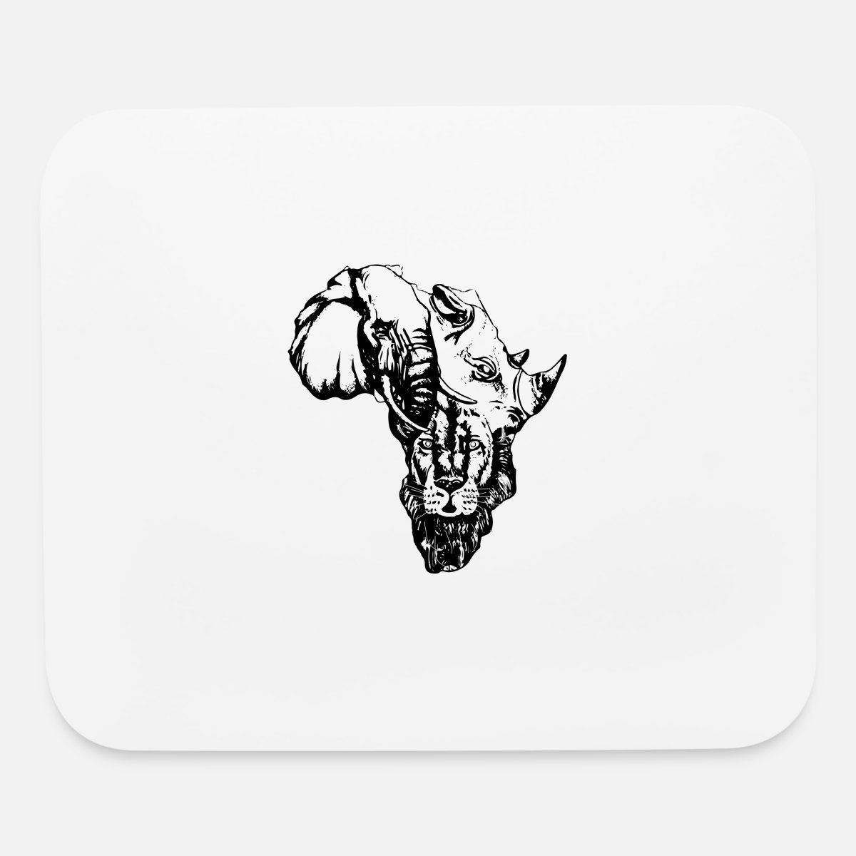 Africa Map Outline Mouse Pad Spreadshirt