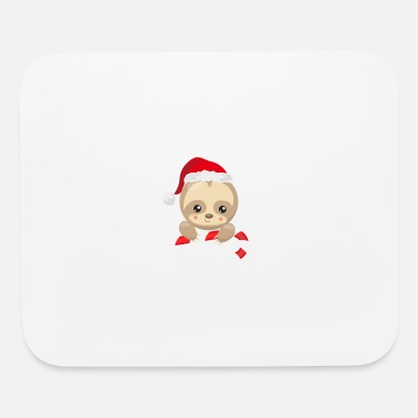 christmas sloth - Mouse Pad