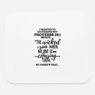 Black Proverbs 28 1 I Wanted to Go Jogging but Laz - Mouse Pad