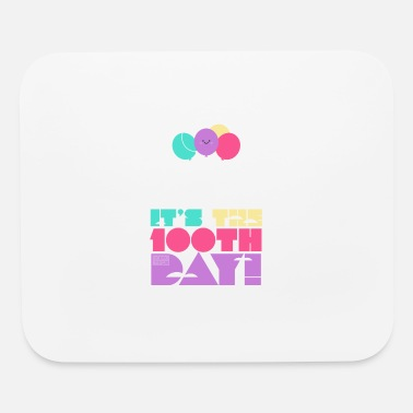 Cute Colorful Up and Away Balloon 100 Days of Scho - Mouse Pad